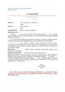avukatlar için iş kazası dilekçesi