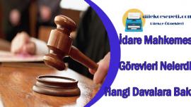 İdare Mahkemesi Görevleri Nedir Hangi Davalara Bakar