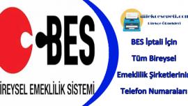BES İptal Telefon Numarası 444 (Bireysel Emeklilik Şirketleri)