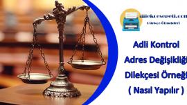 Adli Kontrol Adres Değişikliği Dilekçe Örneği : Nasıl Değiştirilir