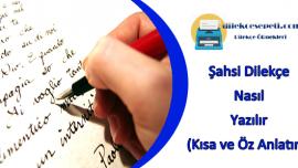 Şahsi Dilekçe Nasıl Yazılır (Oku ve Dilekçeni Hemen Yaz)