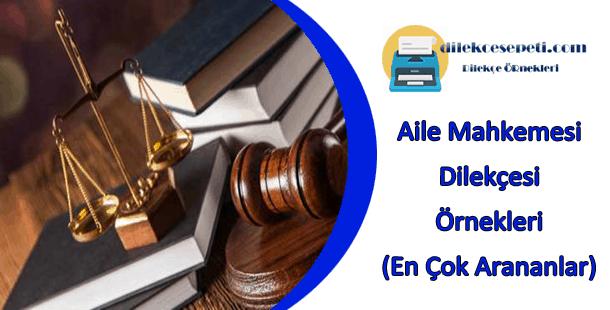 Aile Mahkemesi Boşanma Dilekçe Örneği