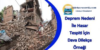 deprem sonrası hasar tespit dilekçesi