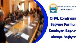 Ohal Komisyonu Başvuru Formu Örnegi : OHAL Komisyonu Çalışmaya Başlıyor
