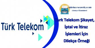 Türk telekom dilekçeleri