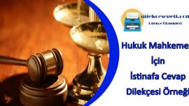 Hukuk Mahkemesi İstinafa Cevap Dilekçesi Örneği