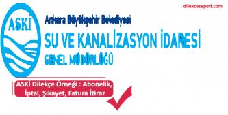 Ankara Büyükşehir Belediyesi Abonelik iptal, fatura itiraz dilekçesi