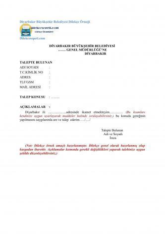 diyarbakır belediyesi dilekçesi