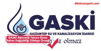GASKİ Gaziantep su ve kanalizasyon dilekçe örneği