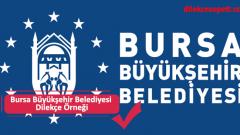 Bursa Büyükşehir Belediyesi Dilekçe Örneği ve Hizmet Birimleri