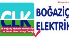 CLK Boğaziçi Elektrik Abonelik İptal ve Fatura İtiraz Dilekçe Örneği