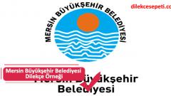 Mersin Belediyesi Dilekçe Örneği (İşlemler, İletişim, Saatler)
