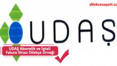 UDAŞ Uşak Gaz Dilekçe Örneği (Abonelik İşlemleri, vs.)