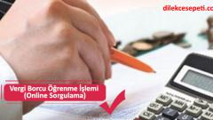 Vergi Borcu Öğrenme İşlemi (Online Sorgulama)