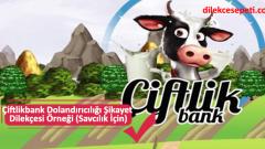 Çiftlikbank Dolandırıcılığı Şikayet Dilekçesi Örneği (Savcılık İçin)