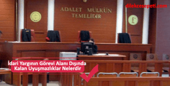 idari yargının görev alanı dışındakiler