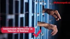 Cezaevindeki Mahkumlar ve Yakınları Bakanlıktan Af Bekliyor