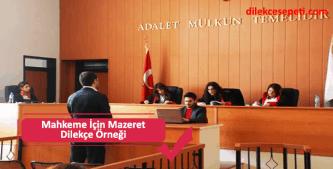 Mahkeme duruşmaya katılmayacağına ilişkin mazeret dilekçesi