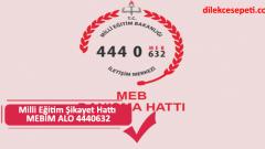 Milli Eğitim Şikayet Hattı MEBİM ALO 4440632